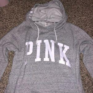 Gray victorias secret pink hoodie